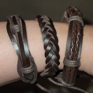 Leather Bracelets - Adjustable